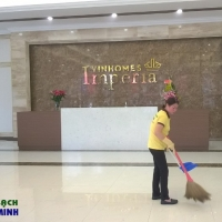 Dọn vệ sinh tại văn phòng giao dịch Vinhomes Imperia Hải Phòng